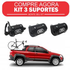 Kit 3 Suportes Transbikes para pick-up Linha Carbon